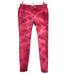 Meritage Womens 29 Pink Bleached Distressed Jeans